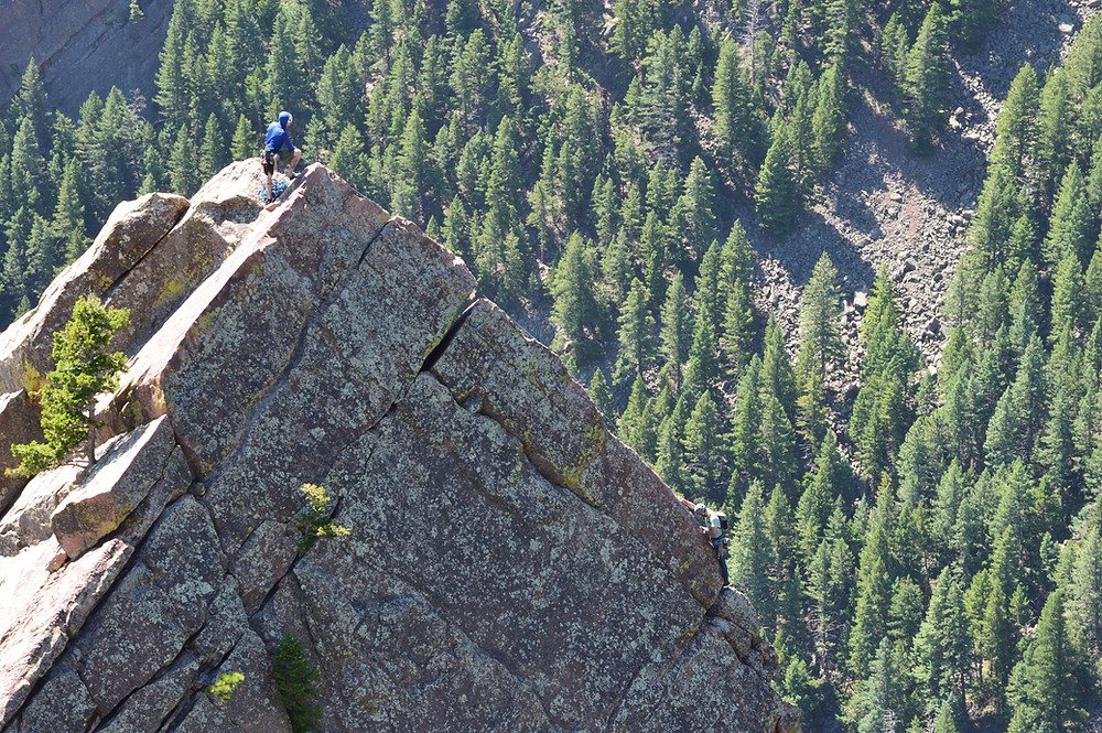 Climbing the Yellow Spur with an AMGA Certified Rock Guide