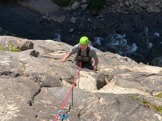 Colorado sport climbing trips in Clear Creek Canyon