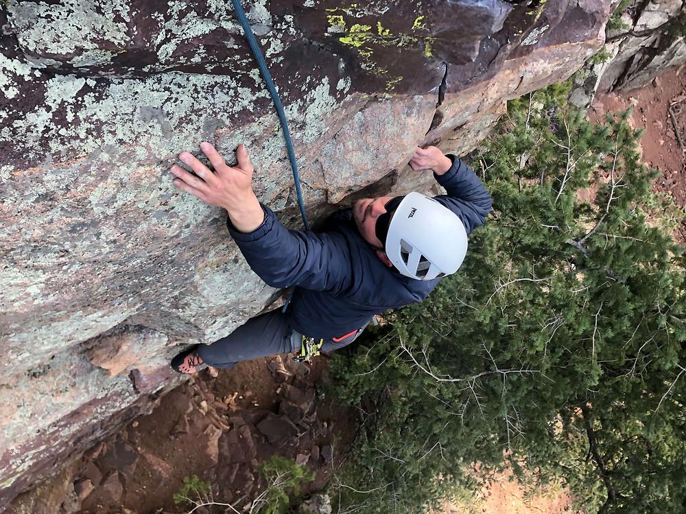 Rock climbing in Eldorado Canyon State Park, Colorado