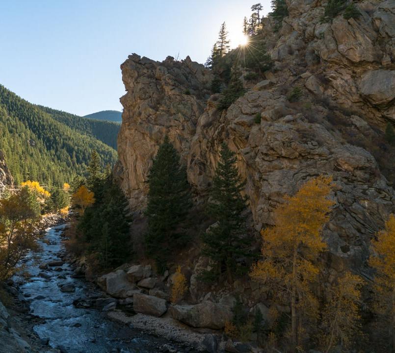 Rock climbing in Colorado in Clear Creek Canyon