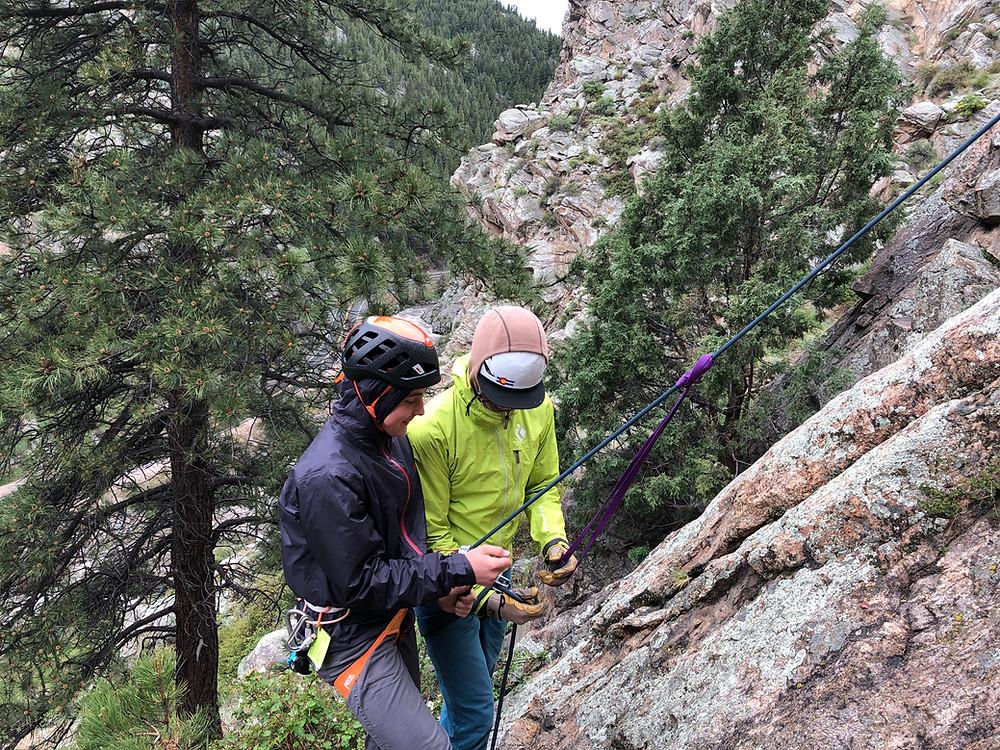 rock climbing self rescue clinic