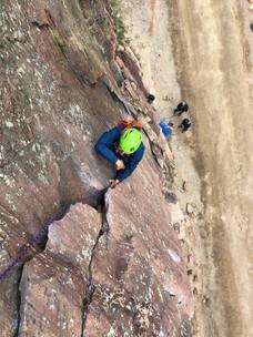 Climbing the Bastille Crack in Eldorado Canyon State Park