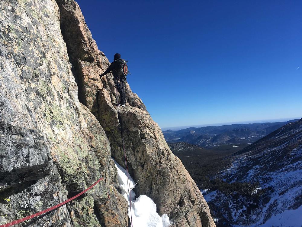 Colorado alpine rock climbing