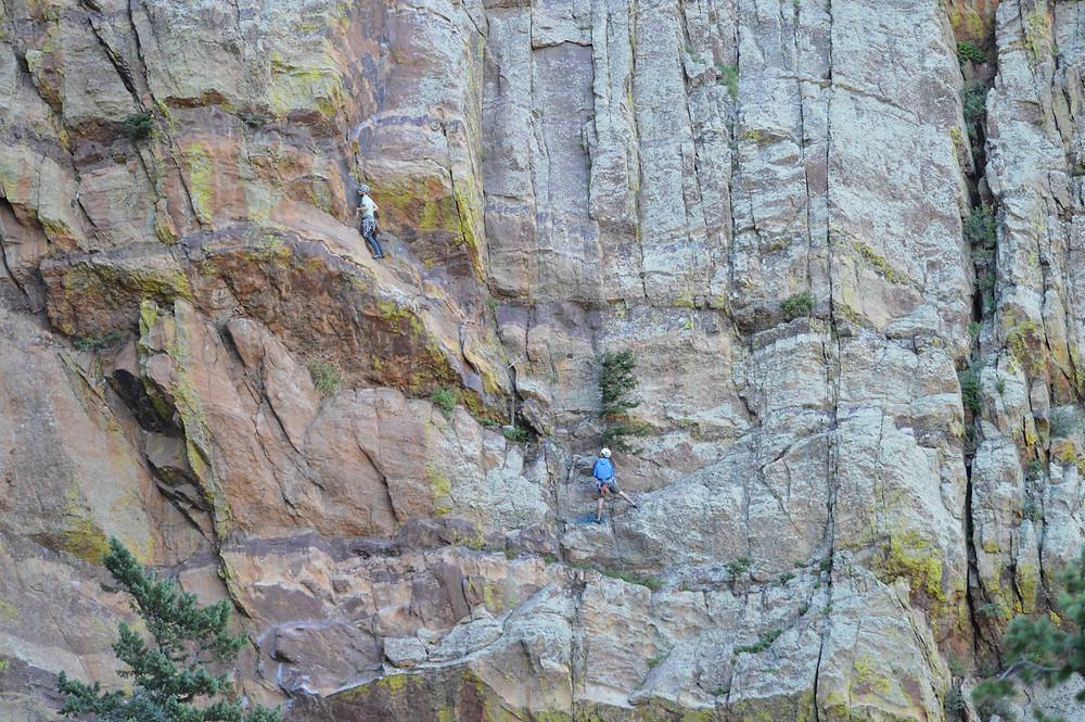 Climbing the Yellow Spur in Eldorado Canyon State Park