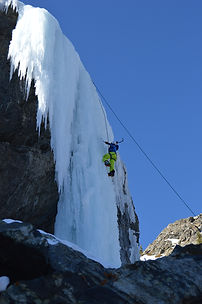 Guided ice climbing and instruction near Denver