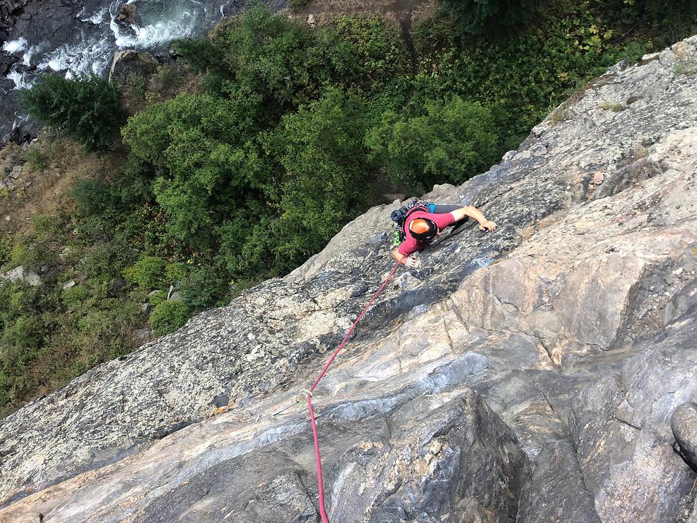 Rock climbing in Golden's Clear Creek Canyon