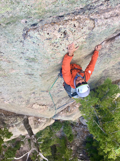 Thomas Gilmore is a guide for Golden Mountain Guides