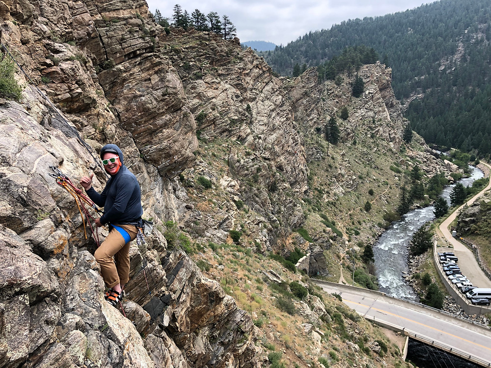 Learn to lead sport climbing in Clear Creek Canyon