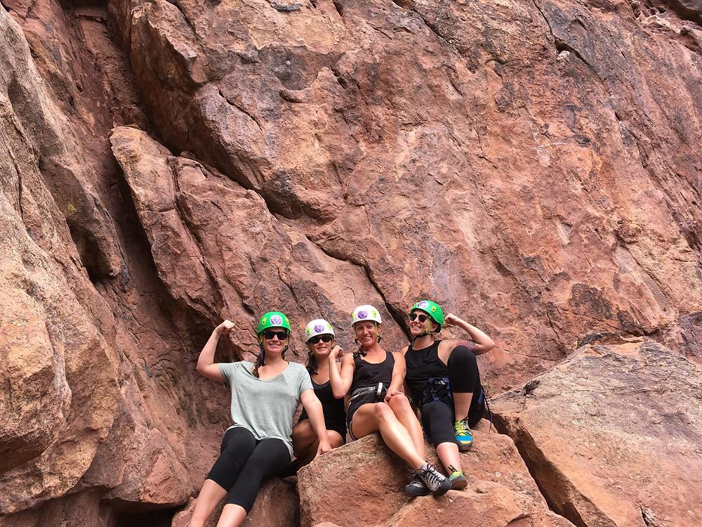 Rock climbing on sandstone in Colorado