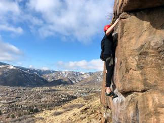 Golden CO rock climbing instruction