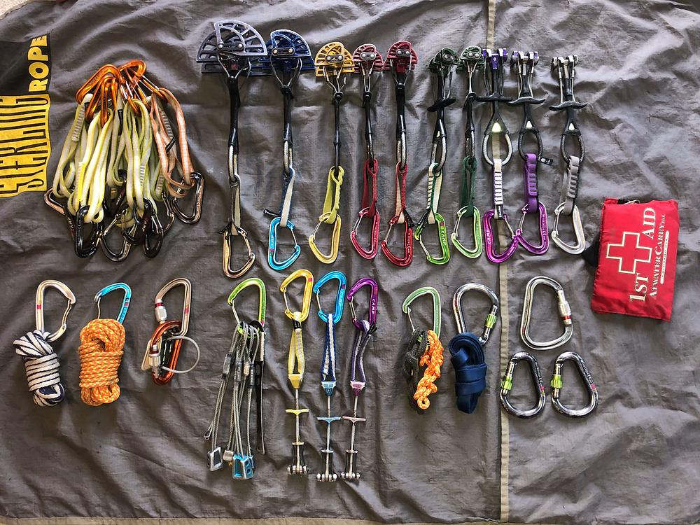 Trad gear for climbing Ruper in Eldorado Canyon State Park