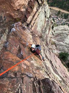 The upper Ruper Traverse, one of the best climbs near Boulder