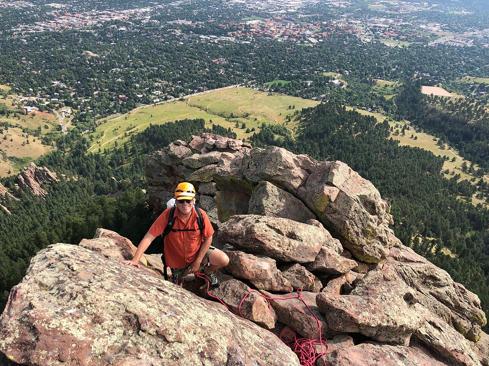 Climbing the Direct Route on the First Flatiron