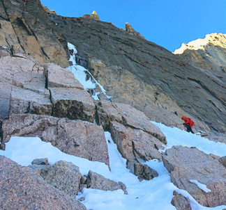 Ice climbing in Rocky Mountain National Park