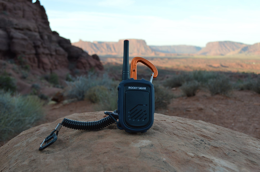 The Rocky Talkie comes in handy while climbing in Moab Utah