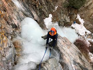 Clear Creek Canyon ice climbing trips