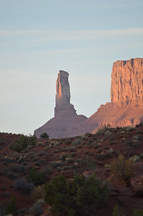 Sunrise on Castleton Tower in Moab, Utah