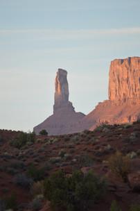 Sunrise on Castleton Tower in Moab, Utah