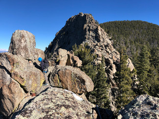 Rock climbing in Golden Gate Canyon State Park