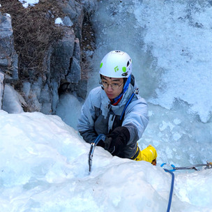 Ice climbing trips near Denver