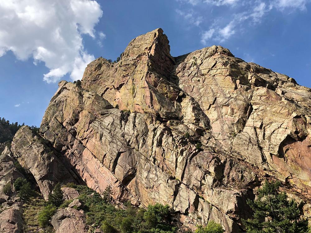 Redgarden wall in Eldorado Canyon State Park