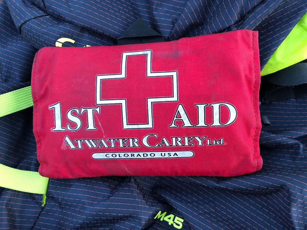 A first aid kit is a must while rock climbing