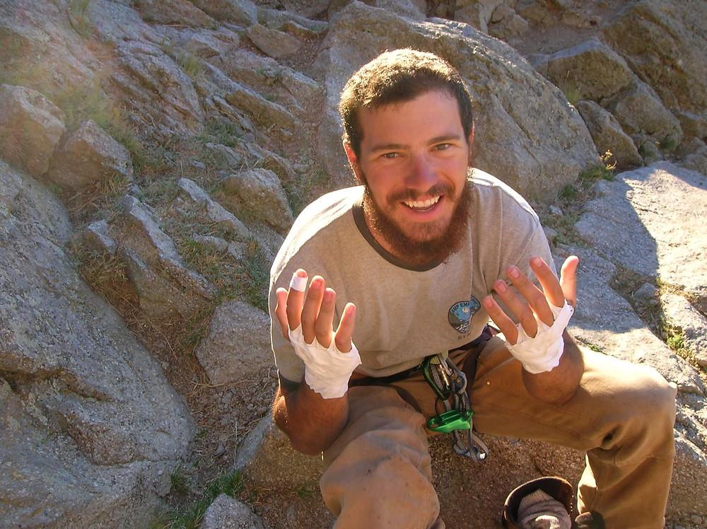 Tape gloves for crack climbing