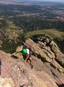 Climbing the First Flatiron in Boulder Colorado