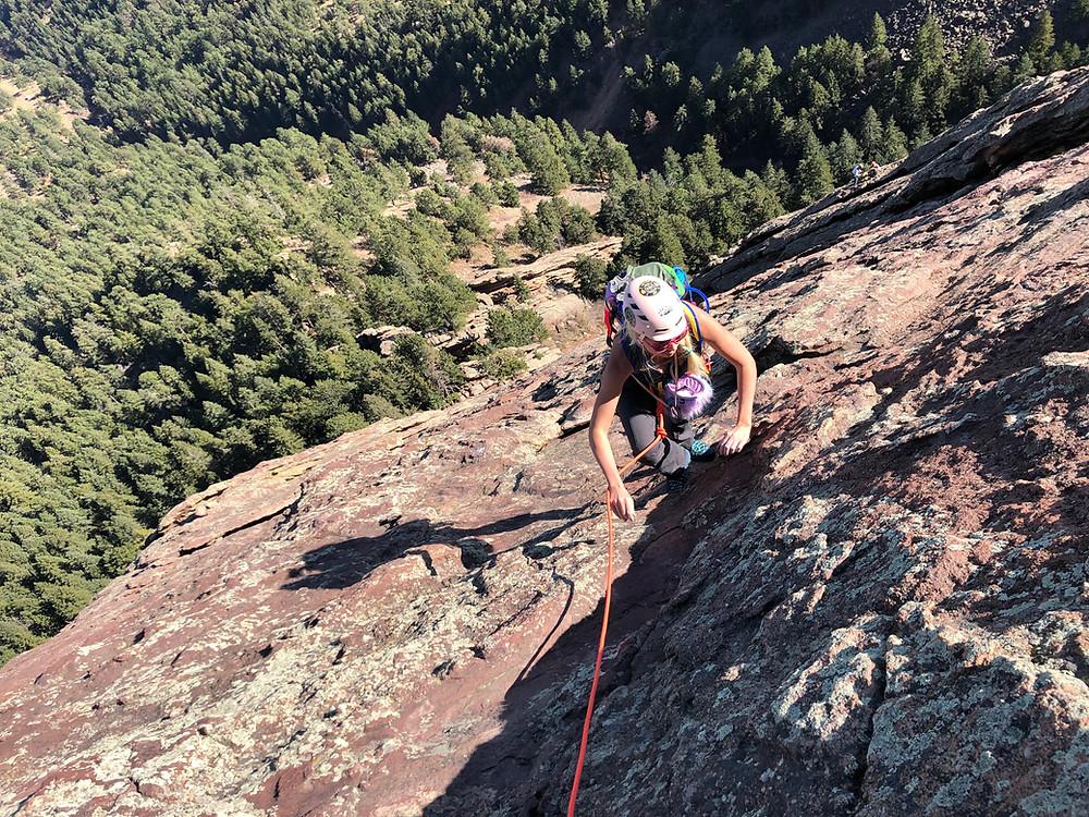Climbing a Flatiron with Golden Mountain Guides