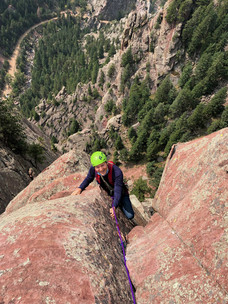 Climbing in Eldo with a mountain guide from Boulder
