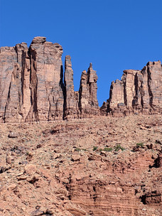 Lighthouse Tower has some of the best 5.10 rock climbing in Moab