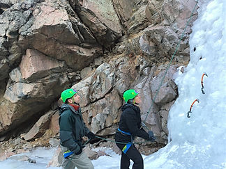 Introduction to ice climbing course in Denver Colorado