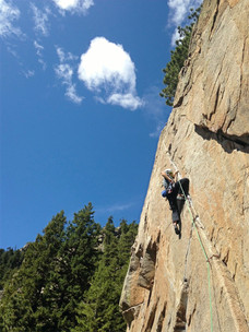 Trad climbing instruction in Boulder Colorado
