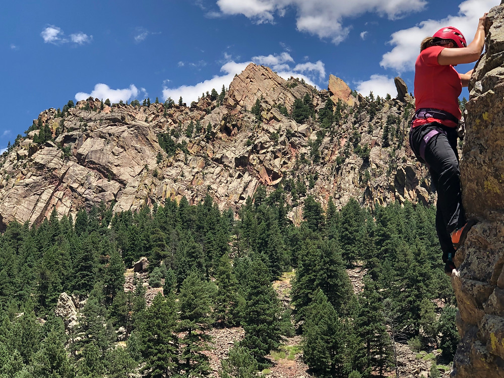 Introduction to rock climbing classes near Denver