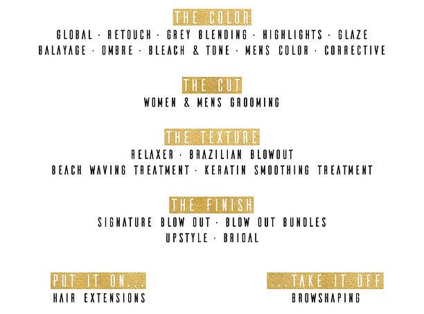 thomas slonaker salon service menu