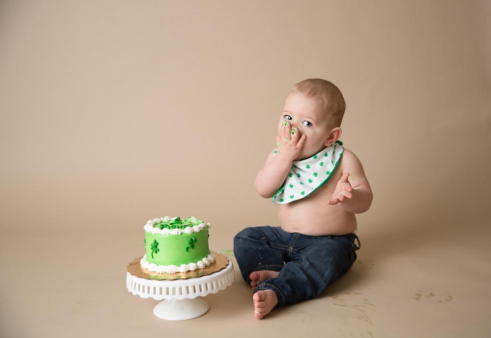 Eating his cake; Venice Florida Child Photographer