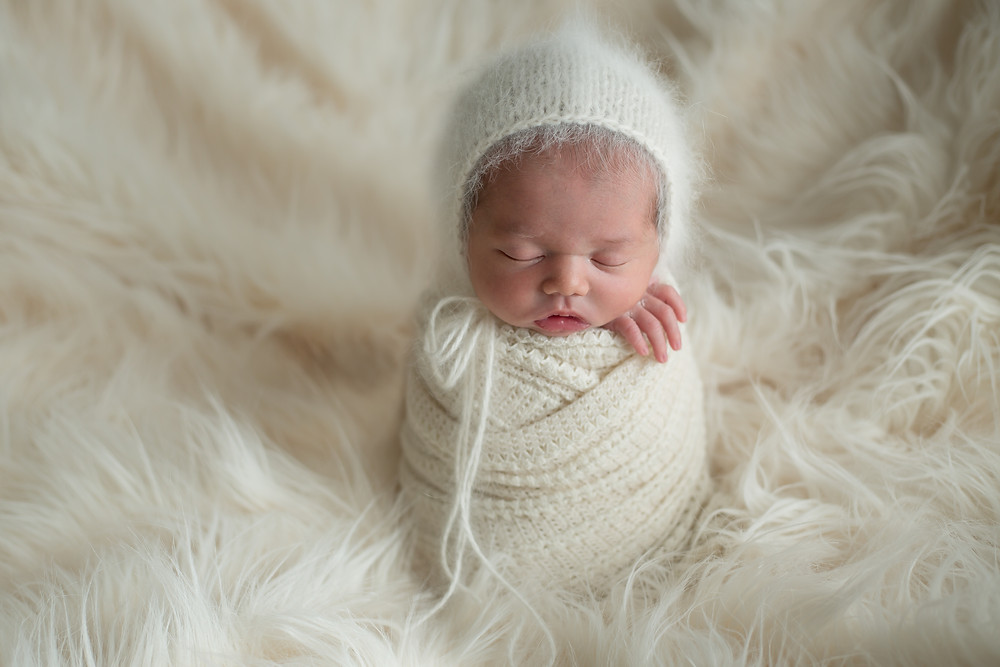 Little Baby Snow Bunny; Nokomis Newborn Photographer