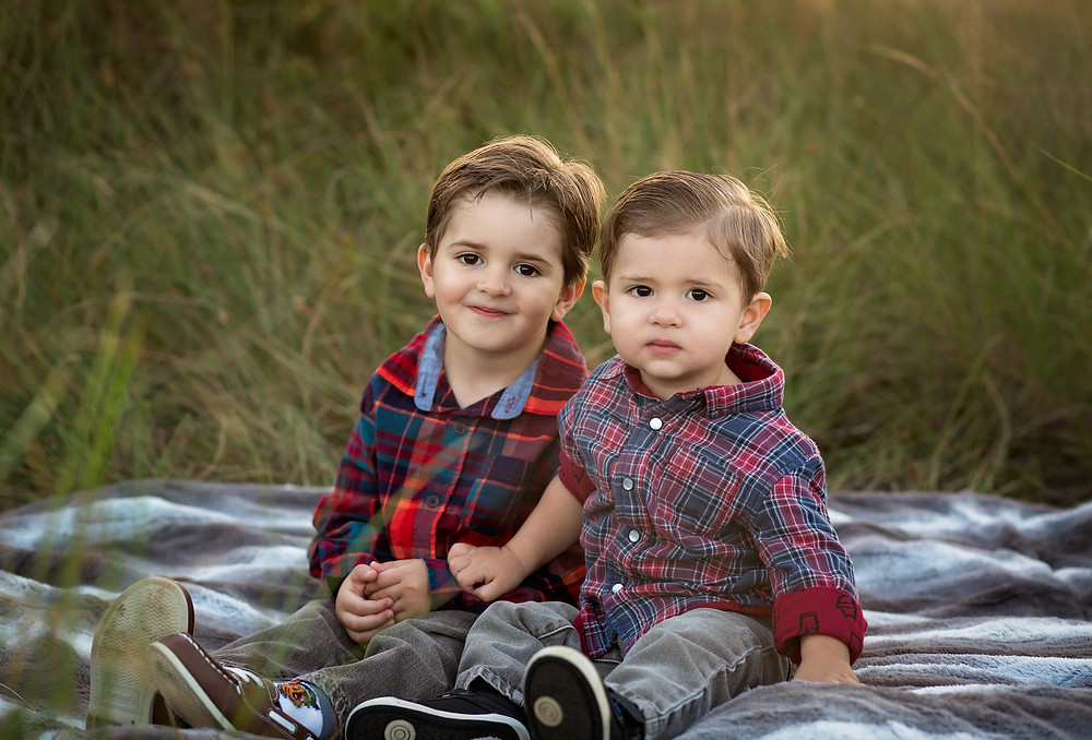 Adorable brothers during Siesta Key Photo session