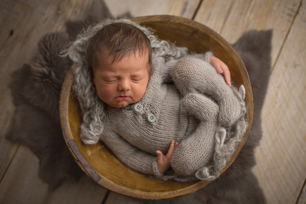 Sarasota Newborn Photographer, Baby Boy in a Bowl