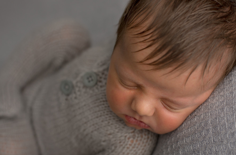 Sarasota Newborn, Gray Backdrop