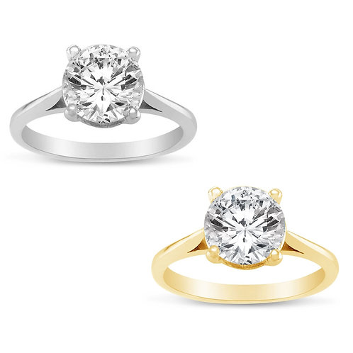 14k Yellow or White Gold 1ct TGW Round-cut Diamonette Solitaire Engagement Ring