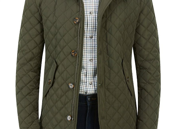Green quilted casual jacket