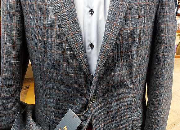 MAGEE NAVY AND RUST CHECK JACKET