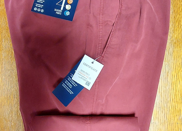 CHERRY RED COTTON TROUSERS BY BRUHL
