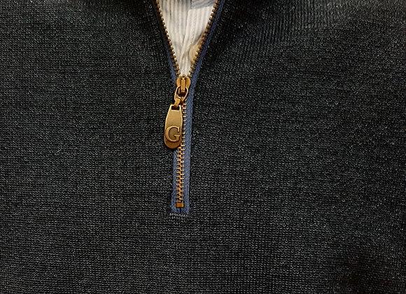Ocean blue 1/4 zip sweater