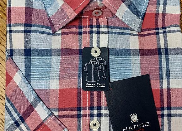 HATICO RED CHECK SHORT SLEEVE SHIRT