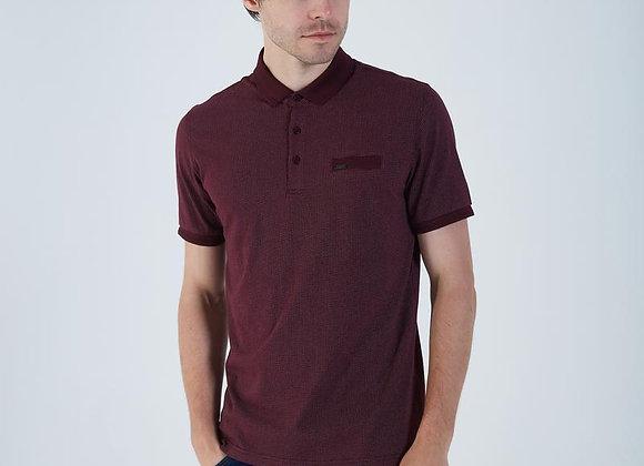 Diesel Burgundy polo shirt