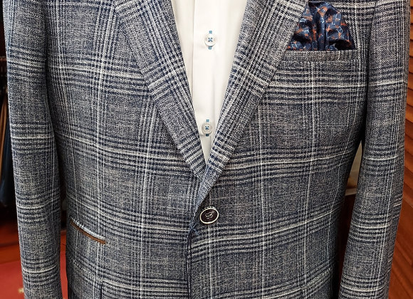 BENETTI CHECK JACKET TAILORED FIT