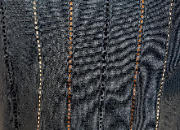 BLUE PATTERNED ROUND NECK