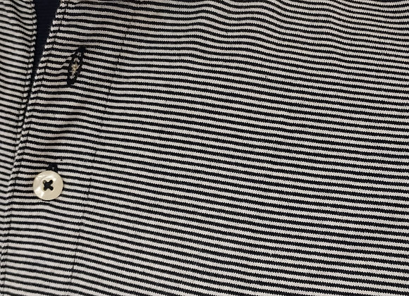 NAVY STRIPPED POLO SHIRT